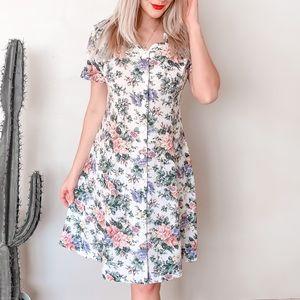 Vintage Floral 90's Dress S